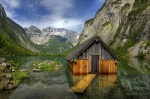alpen, alps, obersee, königssee, lake, pond, nationalpark, berchtesgaden, hut, flooded, hütte, berg, schneebedeckt, blau, himmel, blue sky , Berchtesgaden National Park , Dave Derbis , Berchtesgaden National Park , Dave Derbis