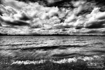 lake, clouds, dramatic, sky, pond, shore, waves, crashing , East Germany , Dave Derbis
