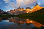 mountain, sunset, lake, Baita Segantini, reflection, San Martino, Dolomites, alpenglow, italy, 2011 , Dolomites, Italy , Dave Derbis