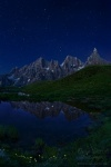 night, dolomites, stars, lake, mountains, italy, 2011 , Dolomites, Italy , Dave Derbis