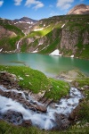 paradise lake mountain alps alpes snow pond human cascade river stream , Alps (Germany, Austria, Switzerland) , Dave Derbis