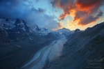 glacier twilight red clouds sunset alpen alpes hohe tauern national park mountains , Alps (Germany, Austria, Switzerland) , Dave Derbis
