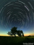 startrails, petersberg , East Germany , Matthias Haltenhof