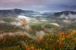 autumn, clouds, valley, sunset, national park, saxony, forest, germany , East Germany , Dave Derbis , East Germany , Dave Derbis